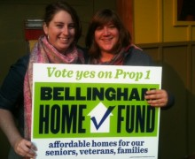 Volunteers had success going door to door to build support for the Bellingham Home Fund.
