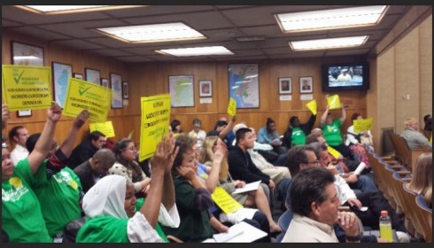 Community members call on the San Diego City Council to Commit to Housing Its Workforce