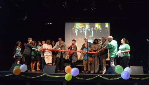 Minnesota legislators and advocates celebrated the historic investment in housing at a symbolic ribbon cutting ceremony.