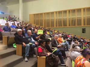 Community advocates show up in force to support the linkage fee.