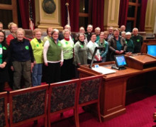 Advocates before the Council budget hearing.