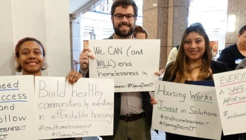 Connecticut advocates pushing to end homelessness.