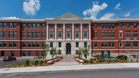 The Sitkowski School Apartments in Webster, Massachusetts used AHTF funds to convert an historic school into housing affordable to people at least 55 years of age earning less than 60% of AMI, and a senior center that benefits the community.