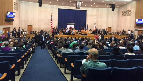 Los Angeles County Board of Supervisors meeting in October to approve the Housing.