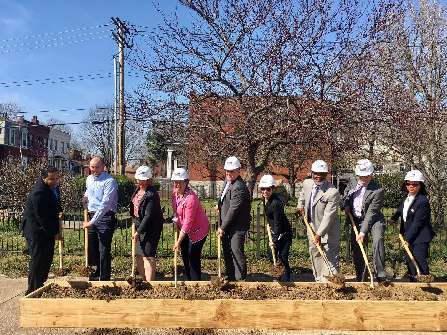 Photo from the Chippewa Park groundbreaking this spring with AHTF Coalition partners and elected officials. Chippewa Park is an $11m project with 46 new affordable homes coming to South St. Louis funded in part by AHTF dollars.