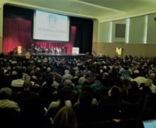 CLOUT Members fill the hall at April 2018 Nehemiah Assembly to secure commitment for $10 million for LAHTF.