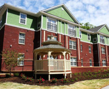 The Tyvola Apartments in Charlotte was funded through the Housing Trust Fund. It houses families between 30-80% AMI with a focus people with disabilities and people experiencing homelessness.
