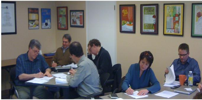 Leaders from the Bellingham Home Fund develop messaging skills at a March 2012 training