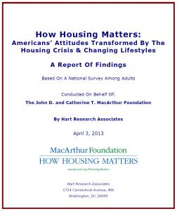 How Housing Matters