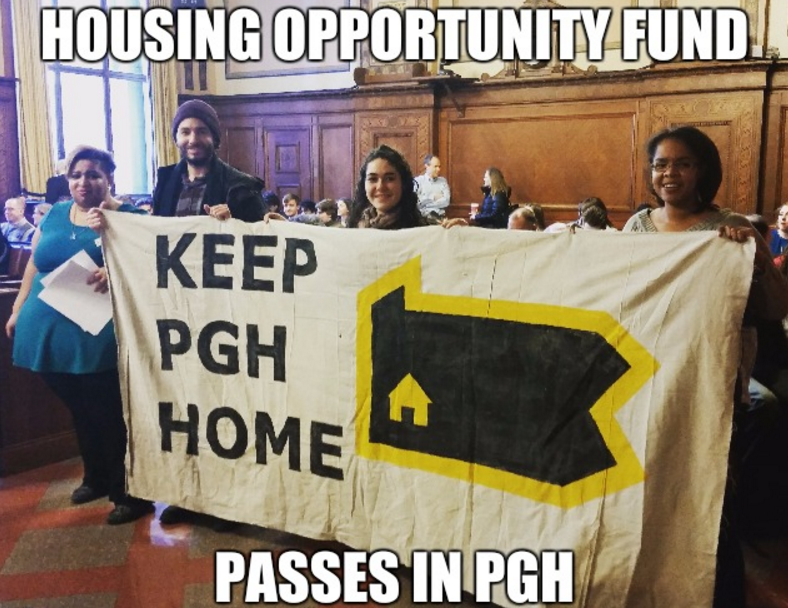 Pittsburgh Enacts Housing Opportunity Fund