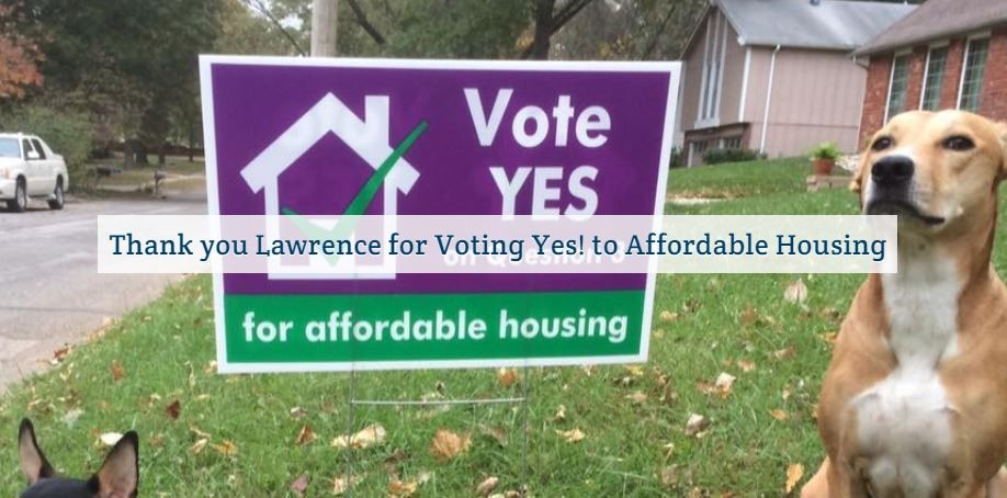 Voters in Lawrence, Kansas Approve $10 million for Affordable Housing Trust