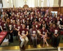 Housing advocates rally at the New Jersey State House for the Affordable Housing Trust Fund at the HCDNNJ Legislative Day