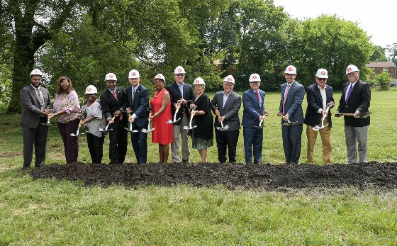 Mayor David Briley and representatives from HUD joined MDHA for a groundbreaking for forty workforce-housing units in Bordeaux