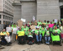Coalition for Affordable Communities rally in front of city hall for increasing revenue for Philadelphia Housing Trust Fund