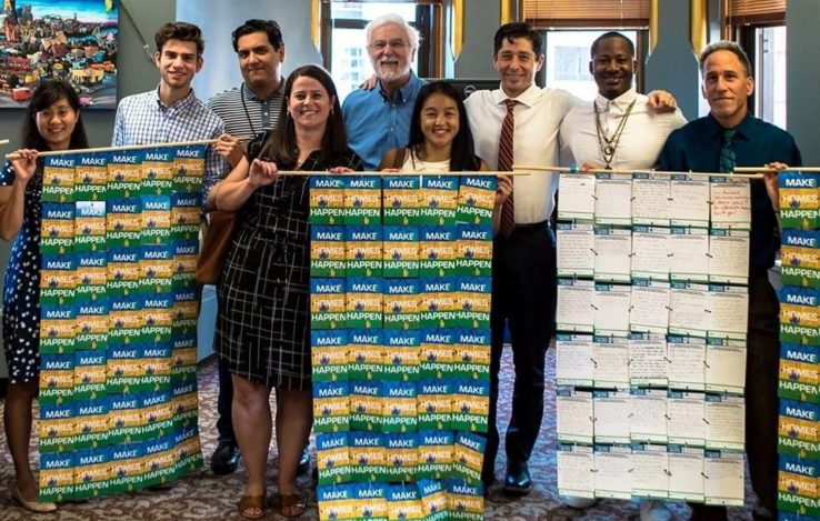 Make Homes Happen coalition members deliver postcards to Minneapolis Mayor Jacob Frey