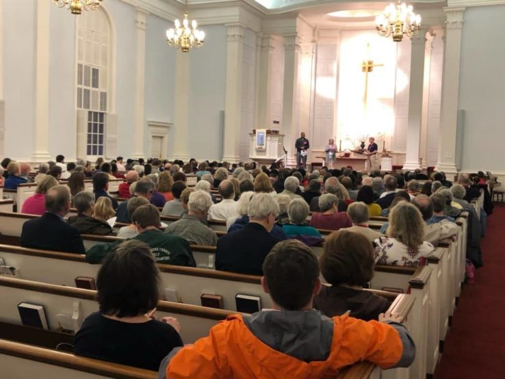 The 2019 Nehemiah Action Assembly in which hundreds of Richmonders demanded lawmakers address the housing affordability and homelessness crisis.