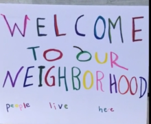 A still from a video Cincinnati advocates made to bring to life the impact of Airbnb in their neighborhood.